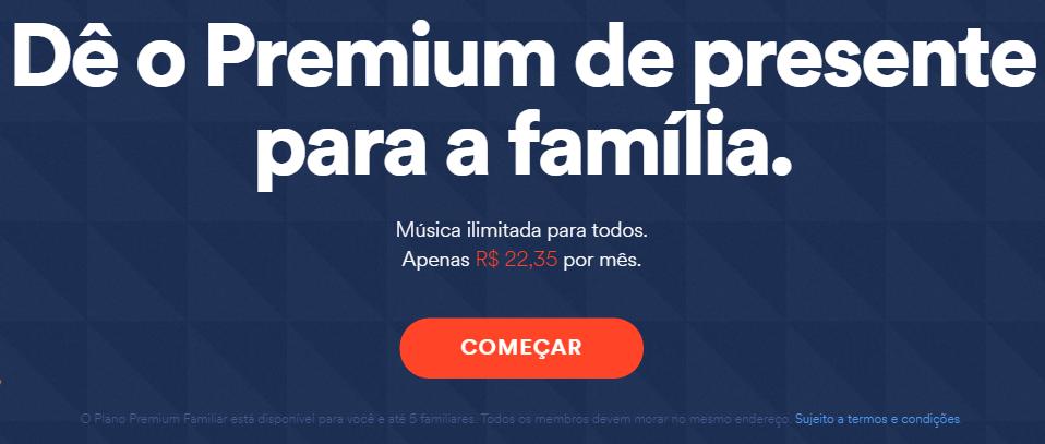 Plano Família do Spotify
